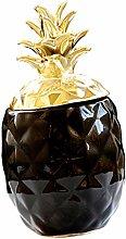 Ceramic Pineapple Shape Jar Centerpiece Decoration