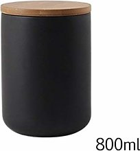 Ceramic Sealed Jars with Airtight Bamboo Lid, Home