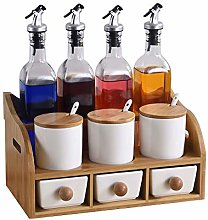 Ceramic Spice Jar Set,Ceramic Condiment Containers