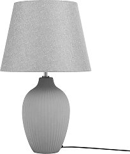 Ceramic Table Lamp Grey FERGUS