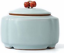 Ceramic Tea Canister Vintage Chinese Style Storage