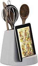 Ceramic Utensil Holder & Tablet Stand - Modern
