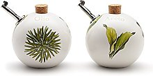 Ceramiche VIVA Herbs Ball Oil and Vinegar Set,