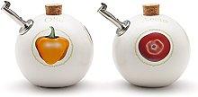 Ceramiche VIVA Vegetable Ball Oil and Vinegar Set,