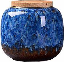 Ceramics Food Jars with Natural Bamboo Seal Lid,
