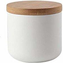 Ceramics Food Storage Jar with Wooden lid,Ceramics
