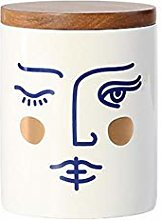 Ceramics Storage Jar,with Airtight Seal Bamboo