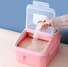 Cereal Container,Rice Storage Bin with Measuring