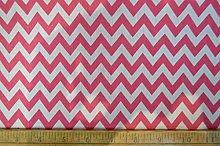Cerise Pink / White - 1/2 Meter | 6mm CHEVRON