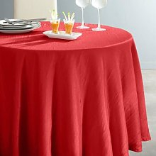 Ceryas Crinkled Round Tablecloth by La Redoute