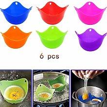 Cestbon 6 pieces Silicone Egg poaching eggs