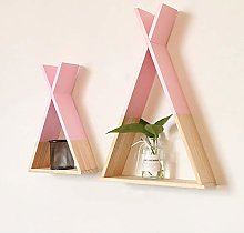Cestbon Wooden Triangle Shelf, Nordic wooden