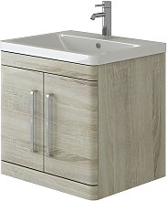 Ceti Oak Wall Hung Vanity Basin Bathroom Furniture