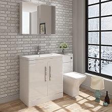 Ceti Vanity Basin Unit & Wall Mirror Cabinet