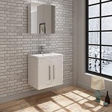 Ceti Wall Vanity Unit & Wall Mirror Cabinet