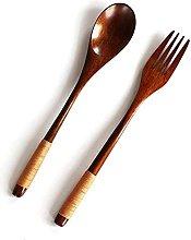 CEXTT Elegant Natural Wooden Tableware Teaspoons
