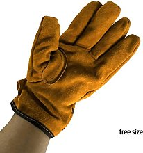 CFDYKRP Outer Cowhide Inner Polyester BBQ Gloves