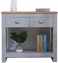 CFDZ Furniture 2 Drawers Console Table Free