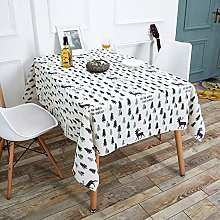 CFWL Cotton And Linen Tablecloth Dining Table