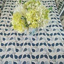 CFWL Green Plant Cotton Linen Tablecloth
