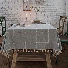 CFWL Lattice imitation cotton and linen embroidery