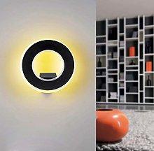 CGC 9W Indoor Black Circular Round Halo LED Wall