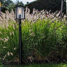 CGC Black Bollard Post Lamp Tall Large Traditional