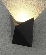 CGC Black Geometric Pyramid Square Wall Light