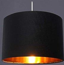 CGC Black Gold Inner 30cm Drum Lamp Shade Pendant