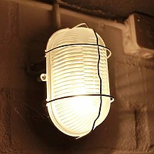 CGC Black Oval Cage Glass Metal Wall Ceiling Light