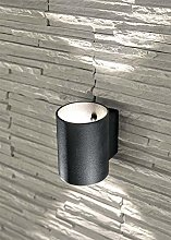 CGC Black Round Cylinder Wall Light G9 Up and Down