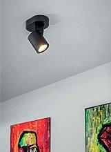 CGC Black Single Spot Light Spotlight Ceiling Wall