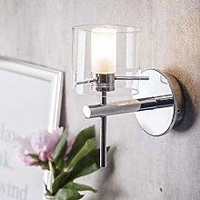 CGC Chrome Glass Bathroom Cylinder Wall Light