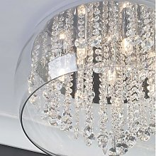 CGC Chrome Glass Crystal 8 Light Large Droplet