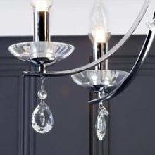 CGC Chrome Glass Crystal Flush 5 Light Curve