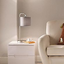 CGC Contemporary Satin Nickel Table Lamp with