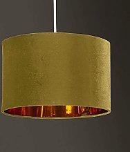 CGC Gold Copper Gold Inner 30cm Drum Lamp Shade