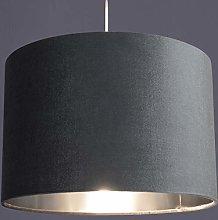 CGC Grey Silver Inner 30cm Drum Lamp Shade Pendant