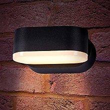 CGC Indoor Outdoor Grey Adjustable LED Wall Light