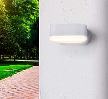 CGC Indoor Outdoor White Adjustable LED Wall Light