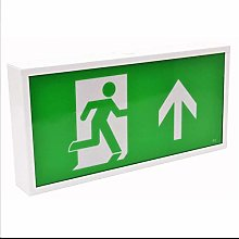 CGC LED Emergency Exit Box Arrow Up Maintained or