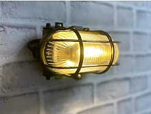 Cgc Lighting - CGC Oval Glass Black Cage E27 Wall