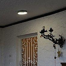 CGC Matt Silver Grey LED Round Ceiling Wall Light