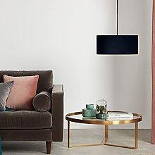CGC Milo Large Black Velvet Fabric Lamp Shade 45cm