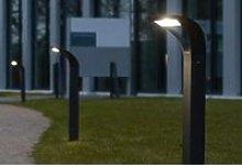 CGC Slim Grey Outdoor 18W LED Post Light in 4000k