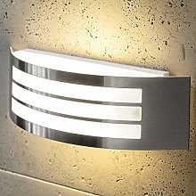 CGC Stainless Steel Silver Curved Arc Outdoor Wall