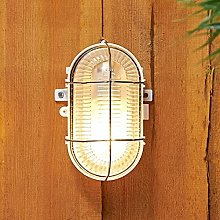 CGC White Oval Cage Glass Metal Wall Ceiling Light
