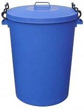 Chabrias Ltd 110 Litre Blue Clip Bin Dustbin