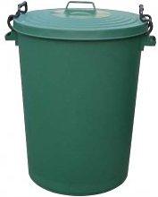 Chabrias Ltd 110 Litre Green Clip Bin Dustbin