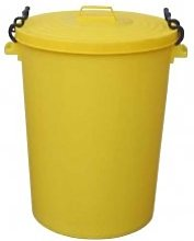 Chabrias Ltd 110 Litre Yellow Clip Bin Dustbin